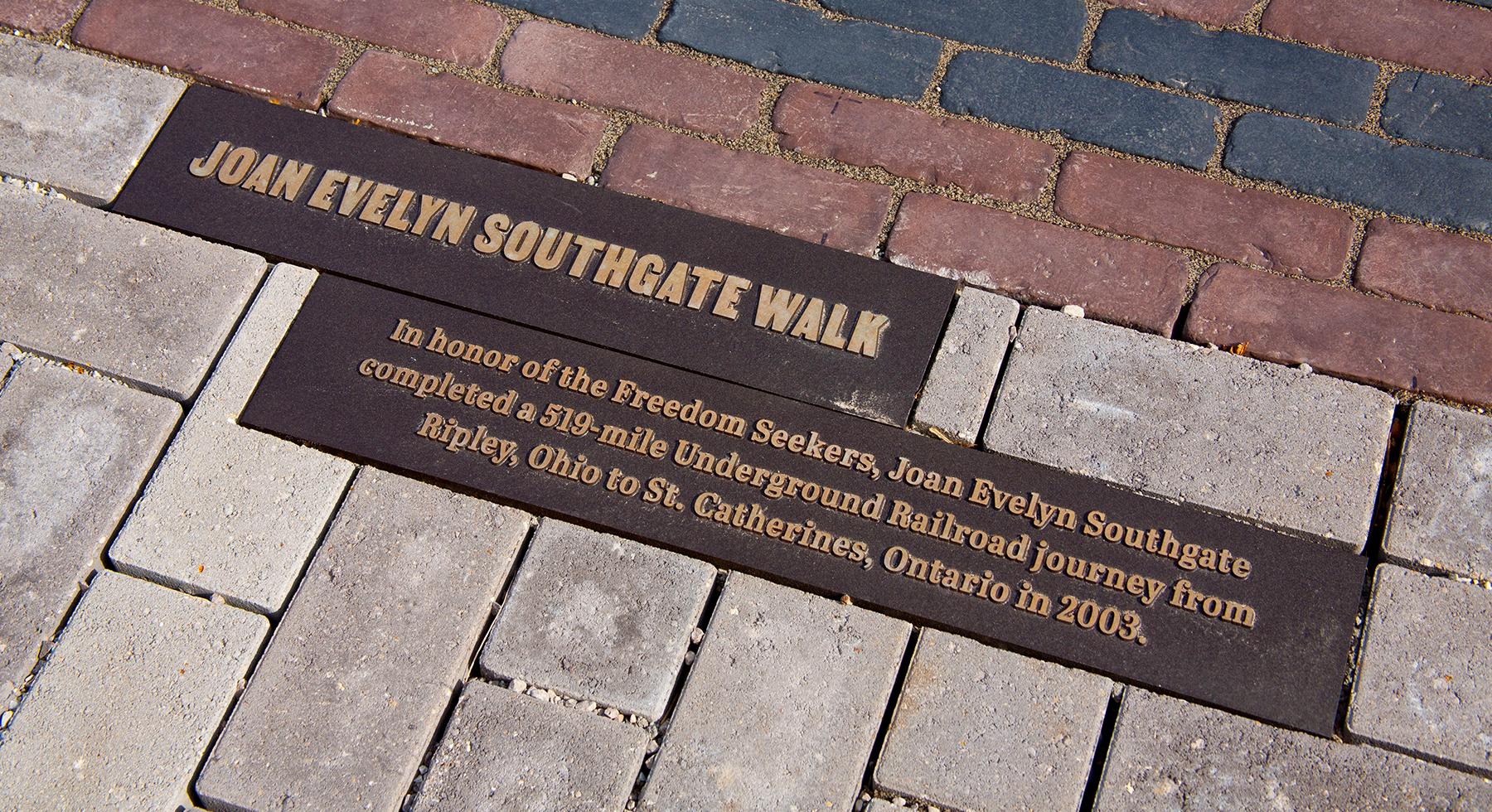 Joan Southgate Plaque