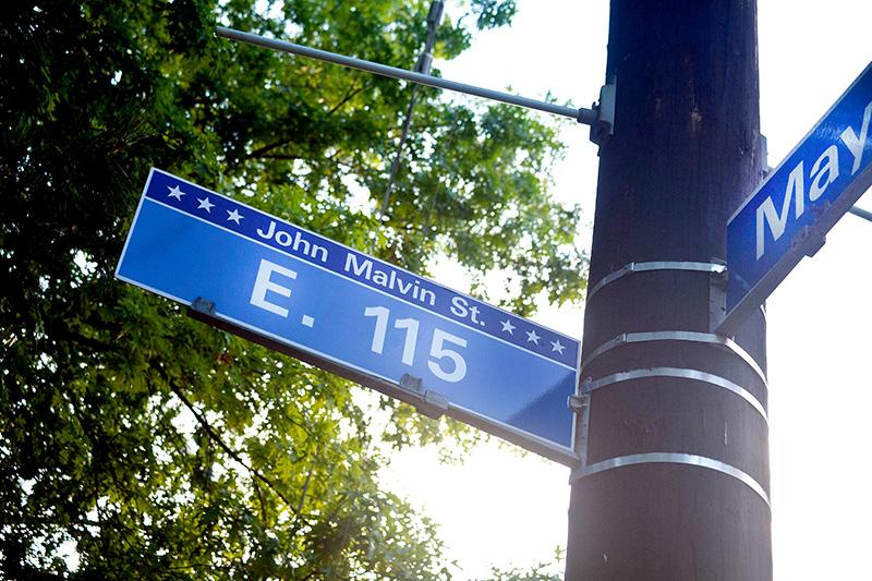 Malvin Street Sign